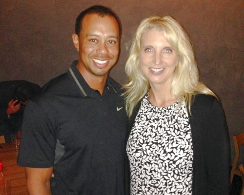 Tiger Woods with Carlette Patterson